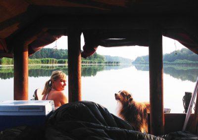 Floßtour mit Hund